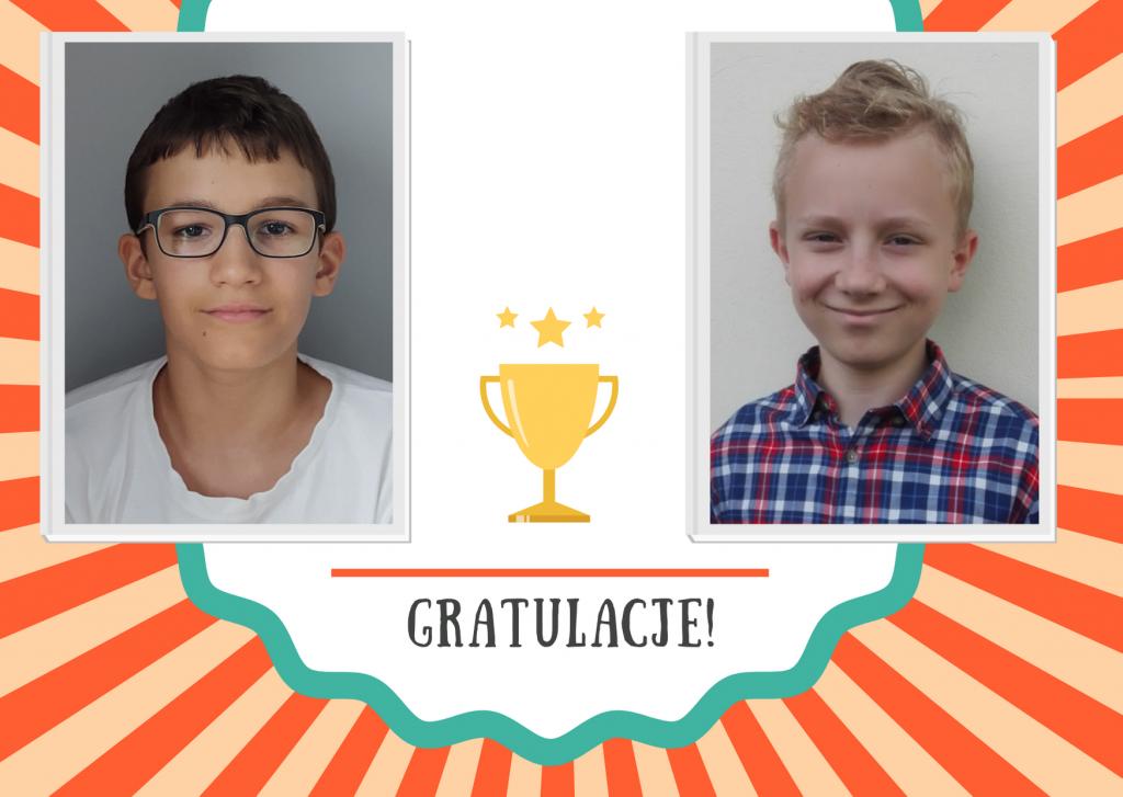 zdjęcia chłopców - laureaci konkursów