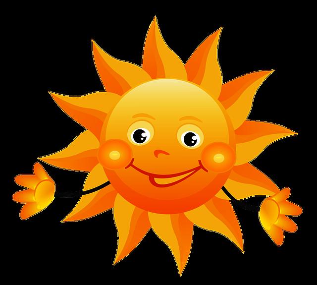 rysunek uśmiechniętego słońca